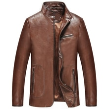Hot Fashion Male Branding Clothing Customized Imported Chinese Brand Men Lined Faux Leather Jacket a