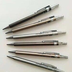 0.5mm/0.7mm Metal Automatic Pencil Mechanical Draft Pencil Drawing Holder Mechanical Pencil Stationery 12 Pcs/lot