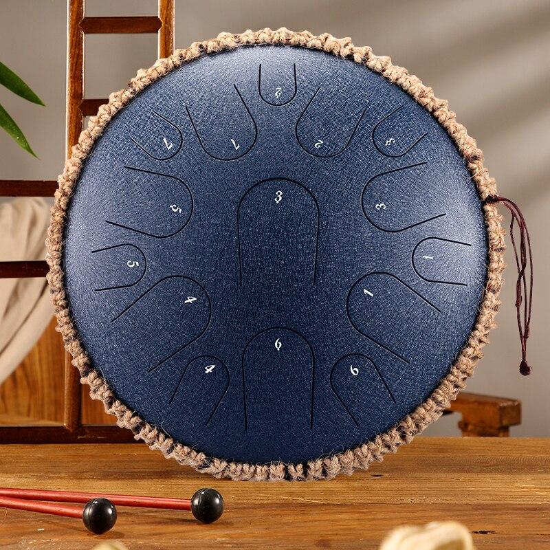 Stalowy bęben 13 cali 15 ton bęben D kluczowy bęben Instrument perkusyjny joga 12.5 cala 11 uwaga C klucz ręczny bęben