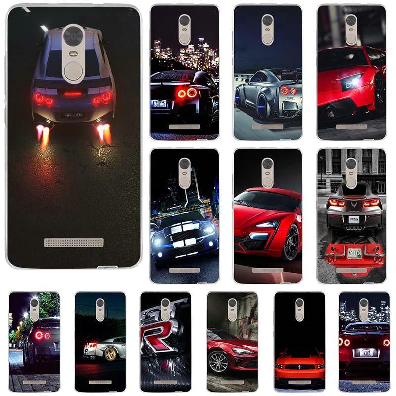 Caso de Telefone Silicone macio para Xiaomi Redmi Nota 2 3 3S 4 4A 4X 5A 5 Pro Plus 2018 GT R Velocidade Estrada Faíscas Estilo Carro Esportivo