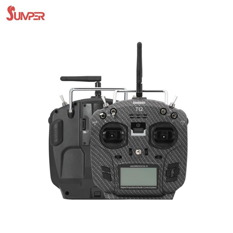 Jumper T12 Pro 2,4G 12CH transmisor multiprotocolo de código abierto JP4in1 módulo Hall 2,4 pulgadas LCD para RC FPV Drone RC remoto