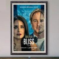 M041 Bliss     affiche en soie personnalisee  film classique  decoration murale  cadeau de noel  2021