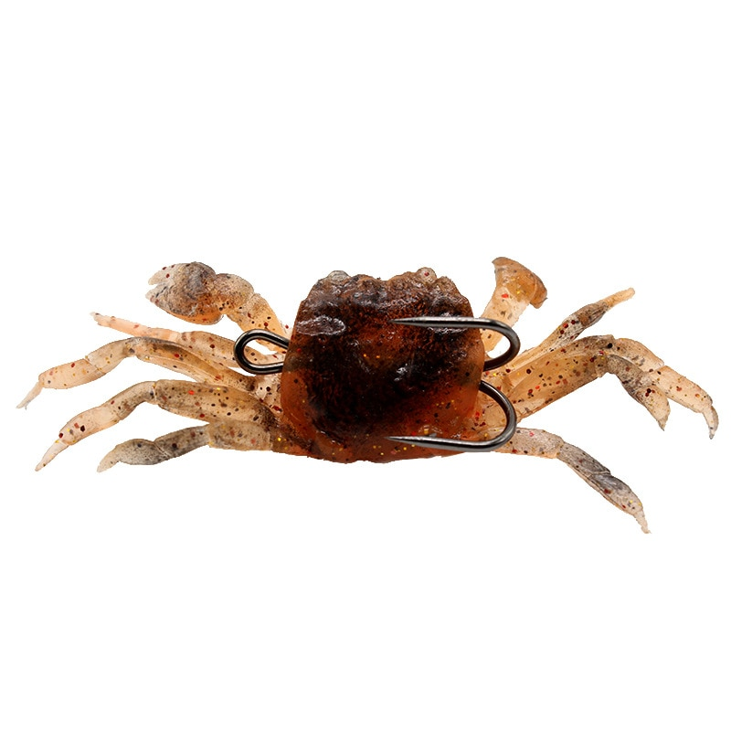 1 pçs/mar pesca gancho lifelike macio isca de caranguejo 30g/10cm artificial pia wobbler macio silicone japonês lula pesca enfrentar isca