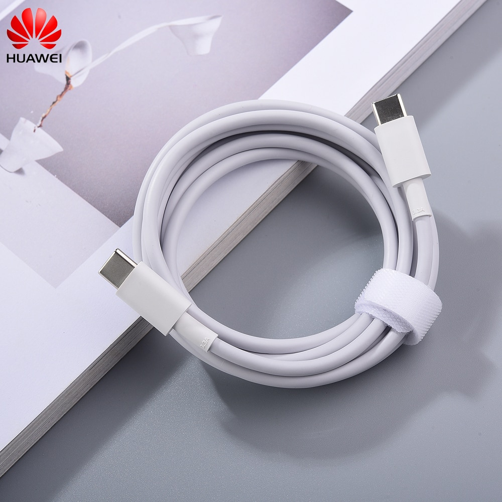 Huawei-Cable de carga USB tipo C para portátil, Cable de 180cm, 3.3A,...