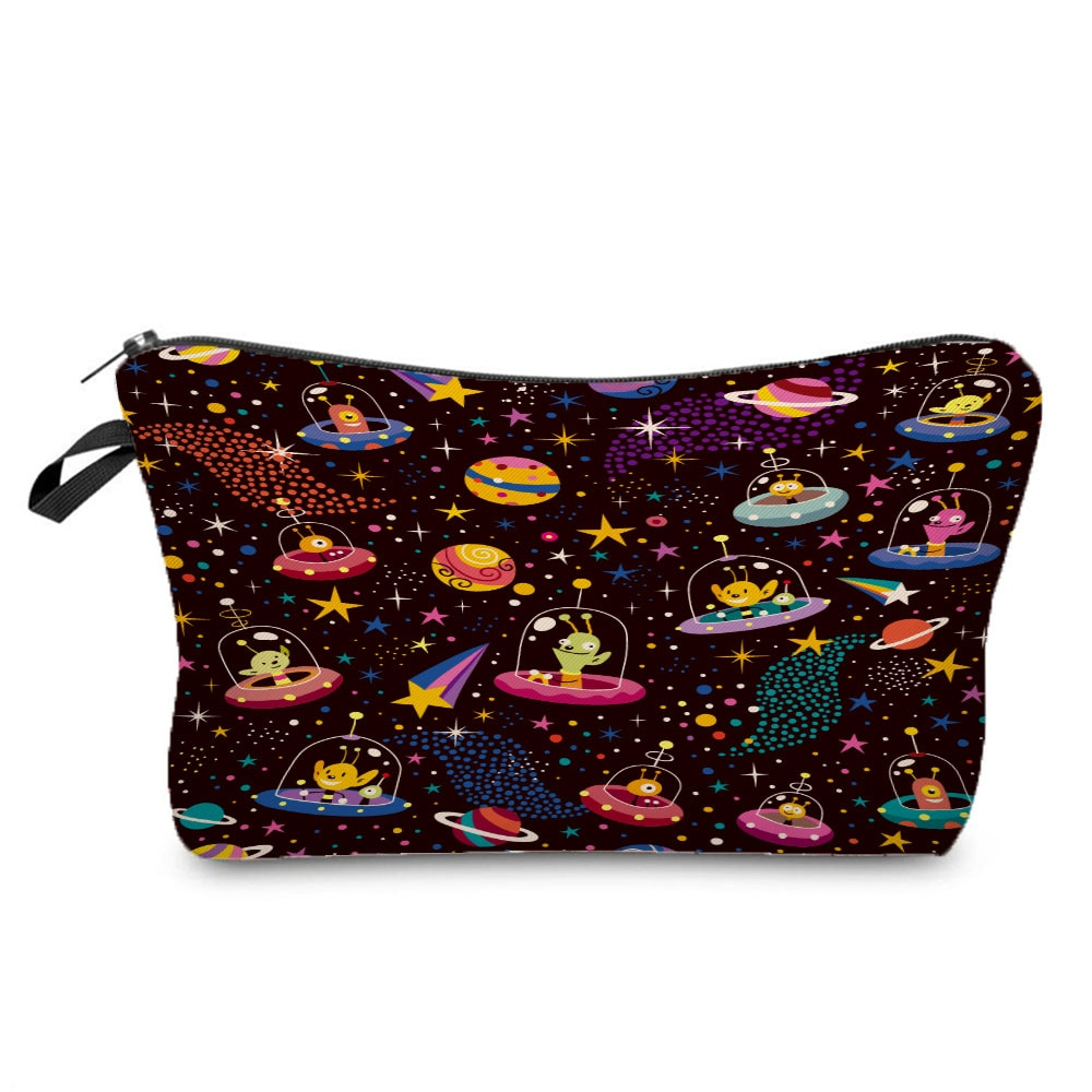 New Fashion Printed Space Cosmetics Organizer Bag Daily Use Women's Makeup Bag Portable Storage Bags for Women Small Pencil Case