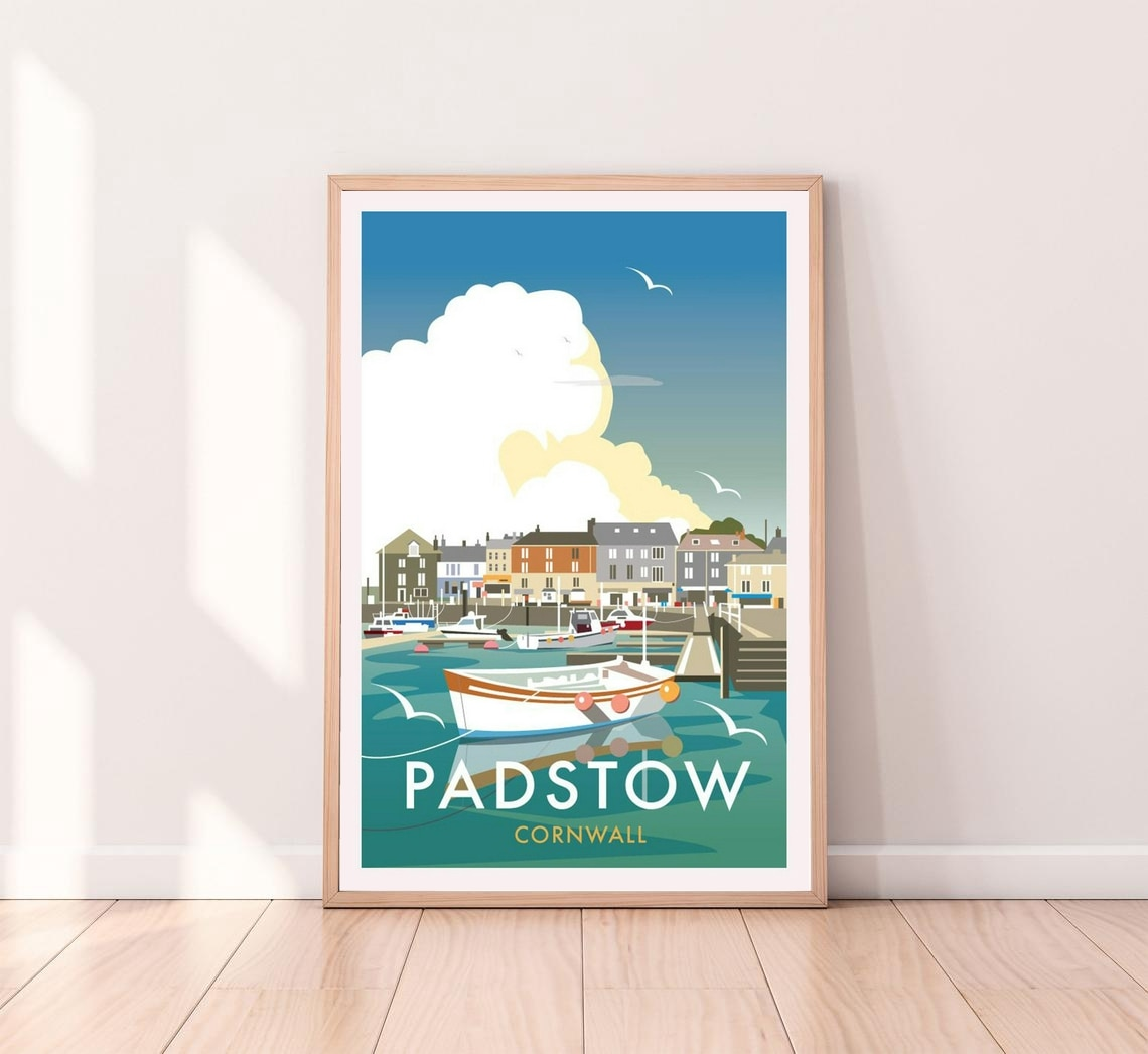 Padstow Poster Placard Art Poster Canvas Poster Wall Painting Decoration (No Frame)
