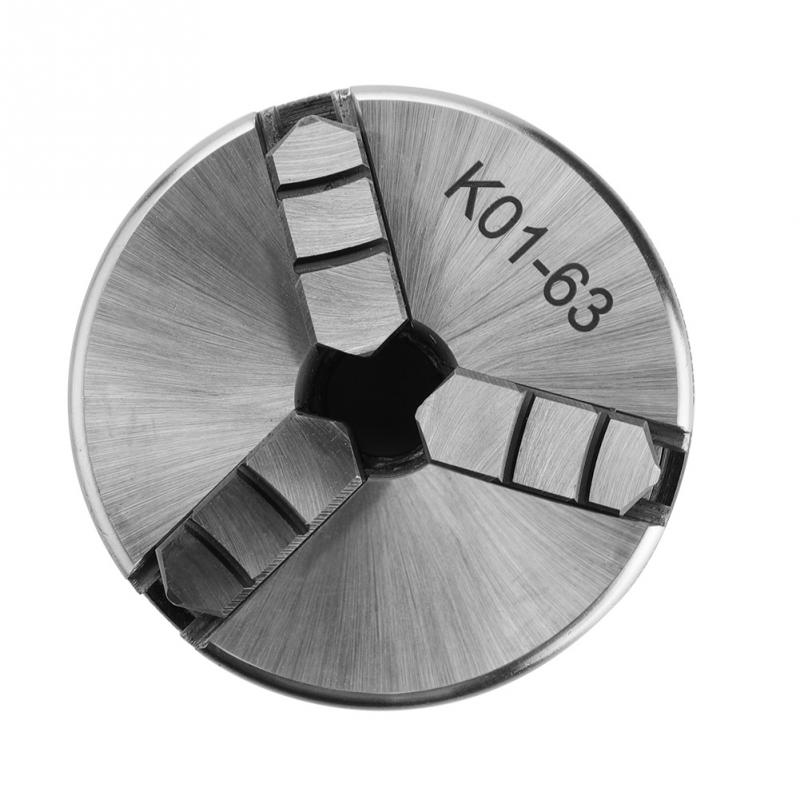 3-فك المخرطة المخدد K01-63/M14 الذاتي توسيط تشاك مع 2 قطعة قضبان قفل ماكينة خراطة أدوات اكسسوارات أجزاء مخرطة تشاك