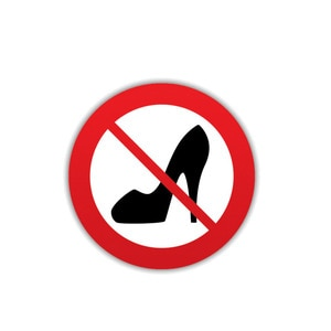 Interesting No Women Shoe Car Sticker CAR Window Motorcycle Decal Accessories No high heels