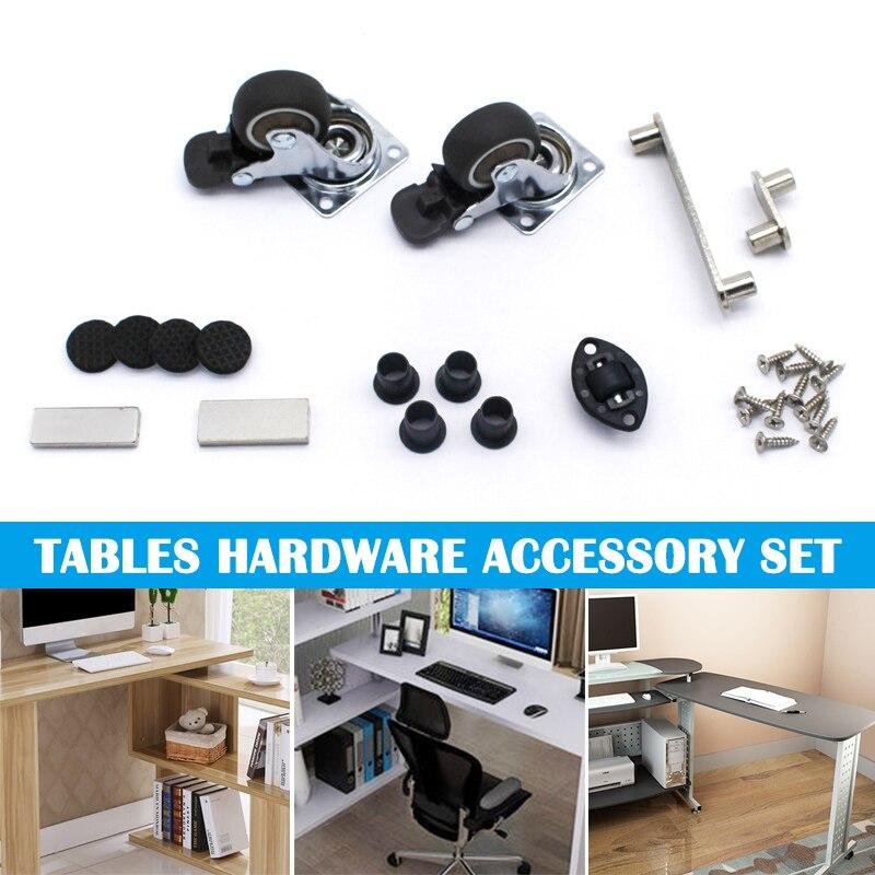 2pcs Swivel Caster Wheels Rubber Base with Top Plate Bearing Heavy Duty Desks Coffee Tables J8 #3