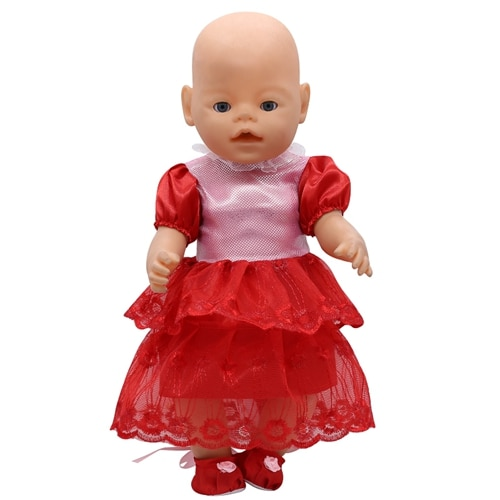 Куклы и аксессуары, Одежда для куклы, платье подходит для кукол 18 дюймов, американский и 43 см, куклы Новорожденные, куклы для девочек, кукла д...