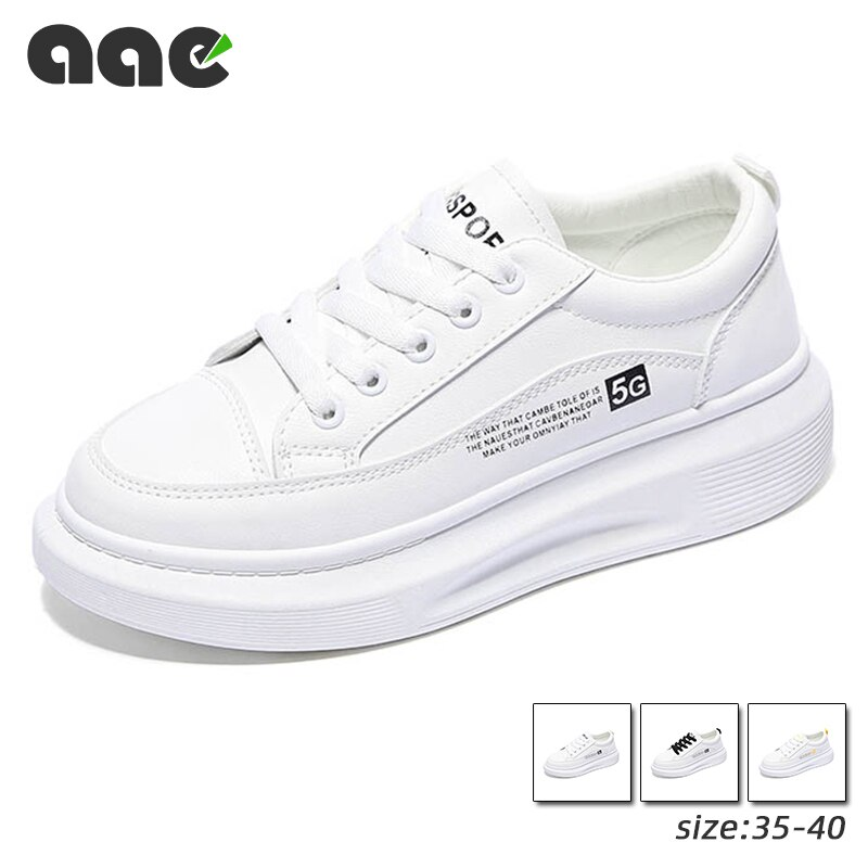 2020 tendance augmente blanc chaussures qualité PU femmes chaussures décontractées poids clair baskets femmes chaussures de course Zapatos Para Mujer