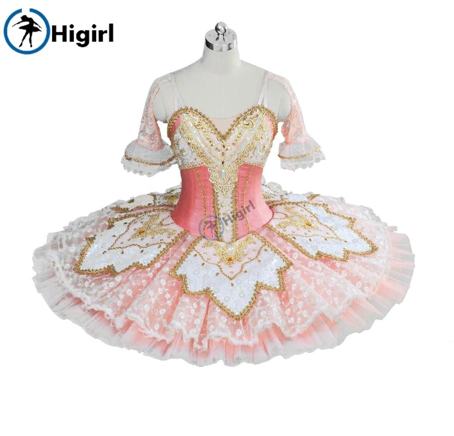 Peach Fairy professional ballet tutu pink adult Performance Tutu ballet pancake costumes pink Nutracker ballet tutu  BT9039