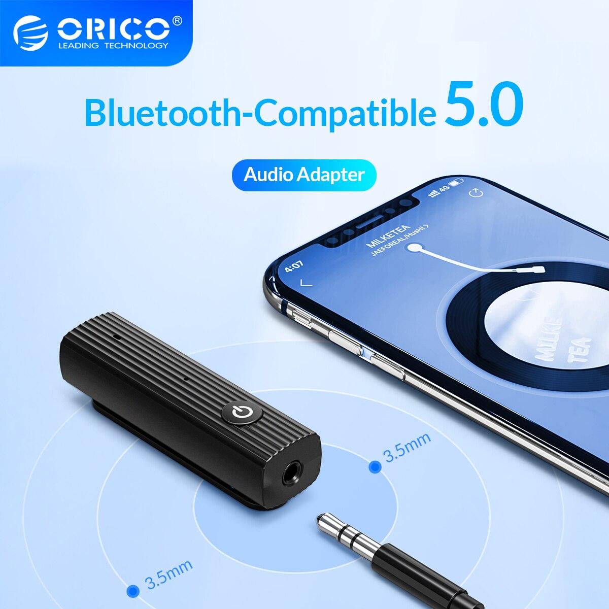 Bluetooth-приемник ORICO 5,0 EDR, 3,5 мм, AUX-адаптер, беспроводной аудиопередатчик с батареей для автомобильных динамиков, наушников