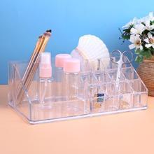 Portable Clear Acrylic Makeup Organizer Storage Box Transparent Cosmetics Storage Case
