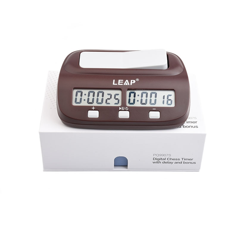 Шахматные часы LEAP, профессиональные портативные цифровые шахматные доски для соревнований, счетчик шахматных игр, электронный будильник, т...