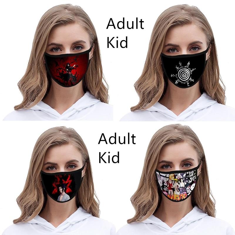 Anime Naruto Mask Demon Akatsuki Masks Cosplay Costume Mascarillas Cotton Adult Kid Dustproof Masks Mascaras Props