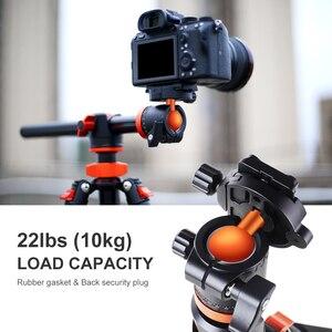 Image 2 - K & F Concept 72 дюйма Камера штатив, S211 поперечный центральная колонка алюминия DSLR Vlog видео штатив с 360 градусов шаровой головкой