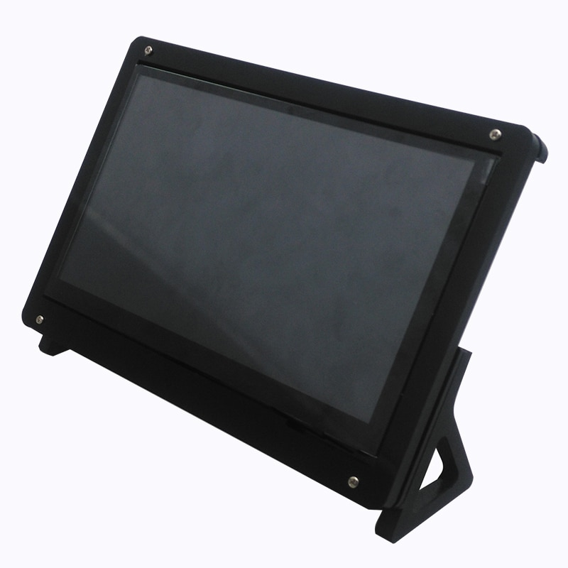 new 7 inch usb hdmi lcd display monitor capacitive touch screen holder case for raspberry pi windows jetson nano 7 inch LCD Display Touch Screen Housing Bracket for Raspberry Pi 4/Pi 3 Acrylic Holder for 7 inch Raspberry Pi LCD Screen