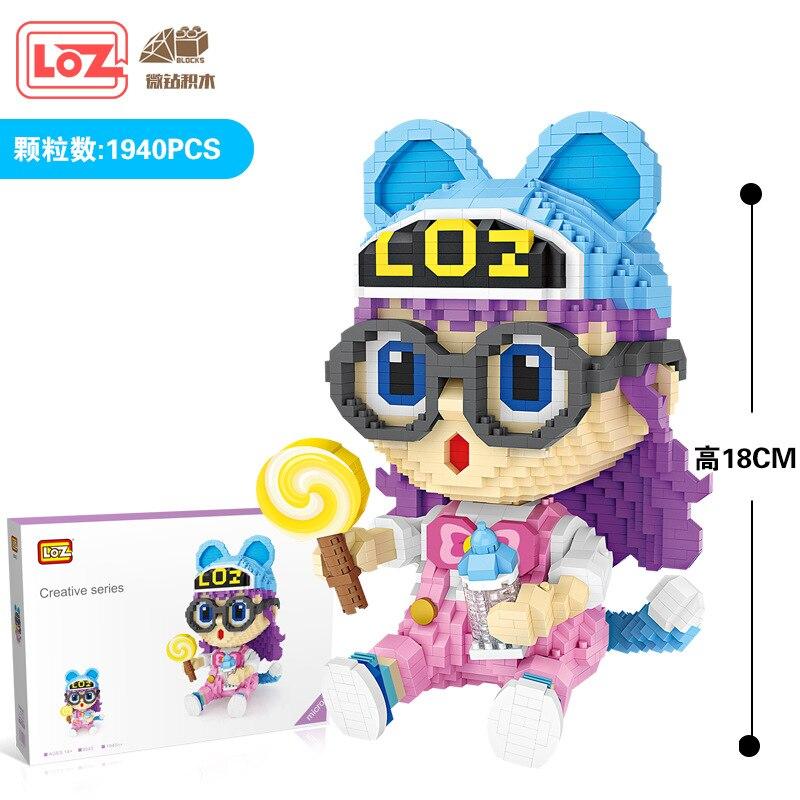 Loz, bloques de construcción nuevos de dibujos animados para chicas, montaje DIY de bloques Mini del Dr. Slumped, modelo 9043, bloques micro, regalos, juguetes para niños, bloques