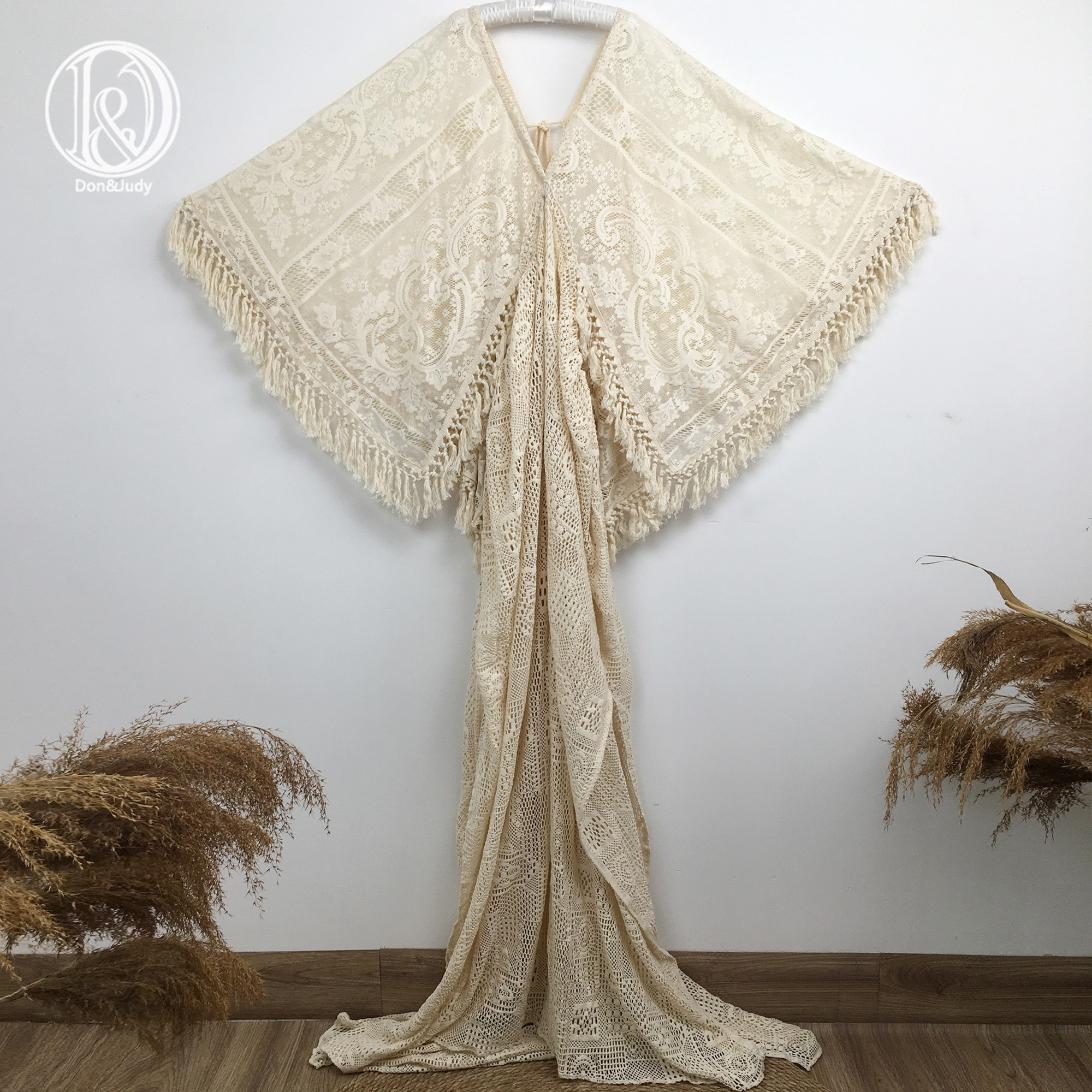 Don&Judy Maternity Dress For Photo Shoot Pregnancy Boho Lace Dress For Photography Baby Shower Maternity Photography 2021