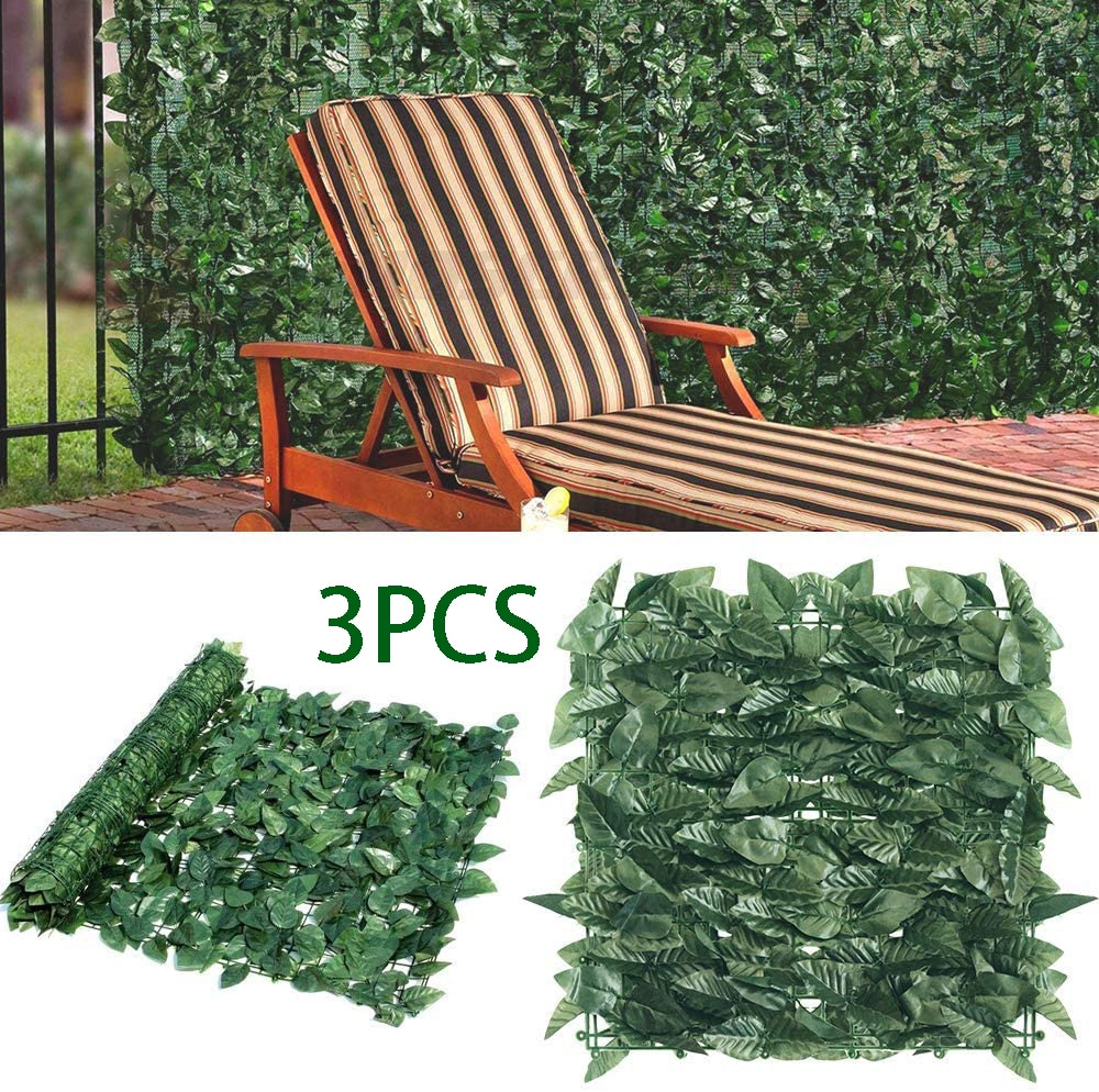 3PCS Artificial Hedge Fence Panels Topiary Hedge Plant Privacy Screen Outdoor Indoor Garden Home Decor Greenery Walls
