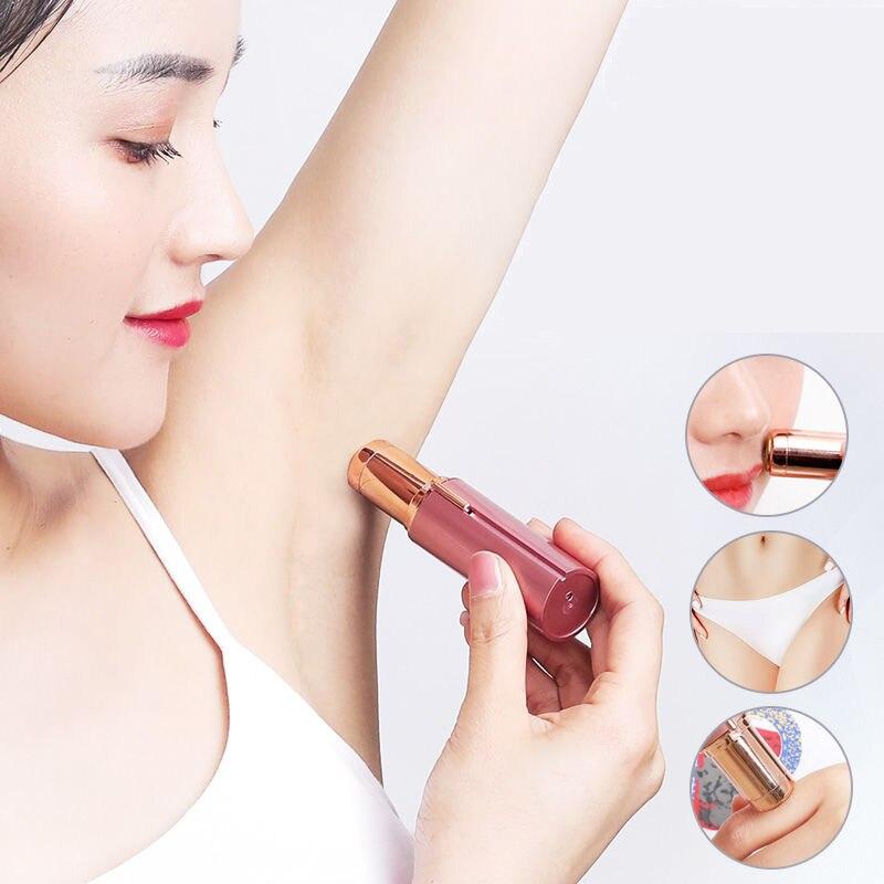 Electric Hair Remover Mini  Lipstick Shape Brows Epilator Women Facial Razor Painless Safety Face Bo