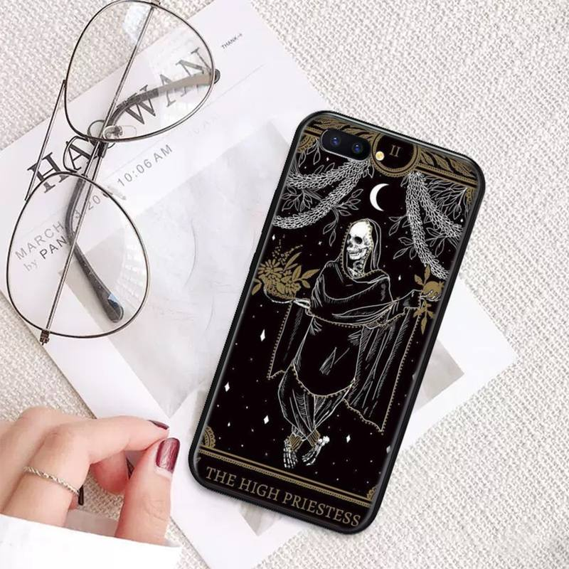 Tarot Constellation Skeleton Phone Case For OPPO A ax 3 5 3 37 57 59 37 73 75 83 71 2018 11 1k s PRO