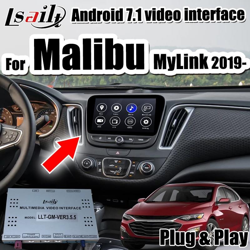 Actualización original de pantalla de coche con interfaz de navegación y carplay Android 7,1 para Malibu MyLink 2019-compatible con youtube de lsailt