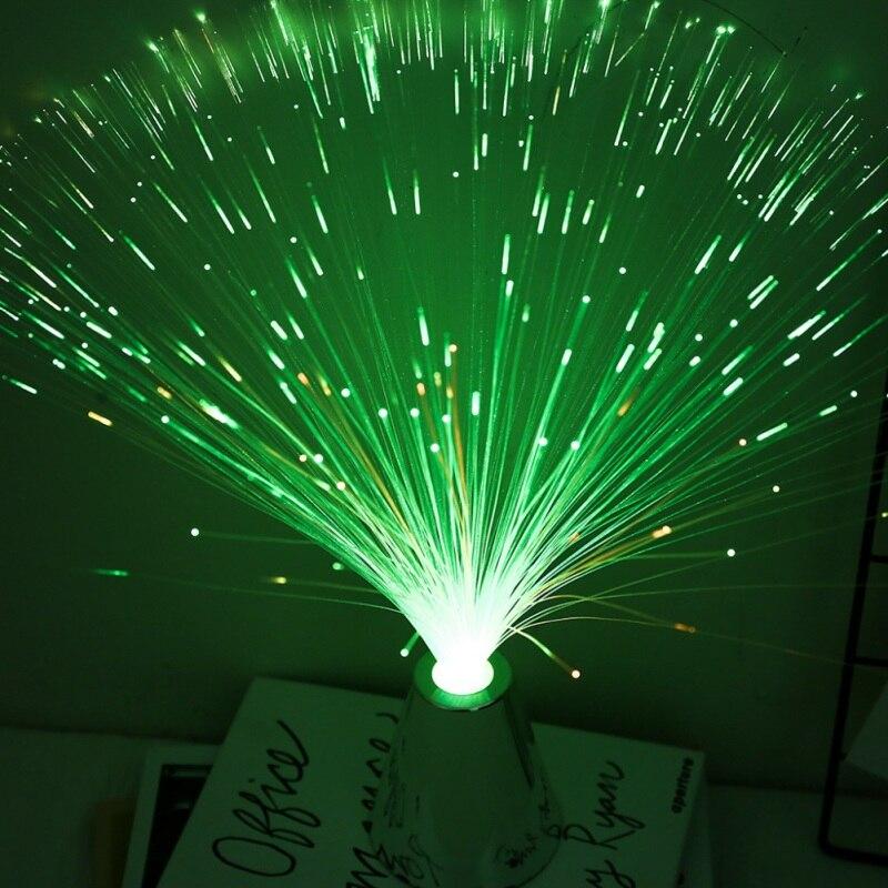 Luces de linterna de fibra óptica LED, cielo estrellado colorido, Festival de Navidad, ambiente, fiesta, boda, decoración del hogar