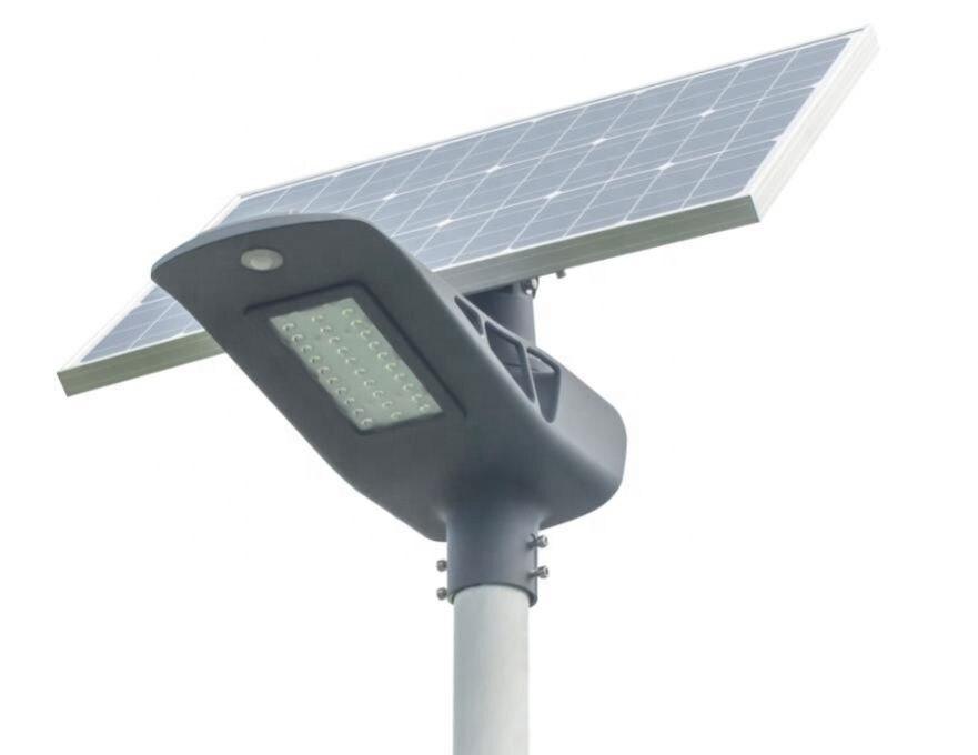 Semi Integrated Outdoor Solar Motion Sensor Ip65 30W High Power 12V Aluminium Led Street Light