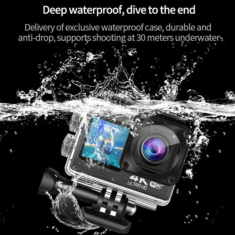 Action Camera Ultra HD 4K/60fps WiFi 2.0