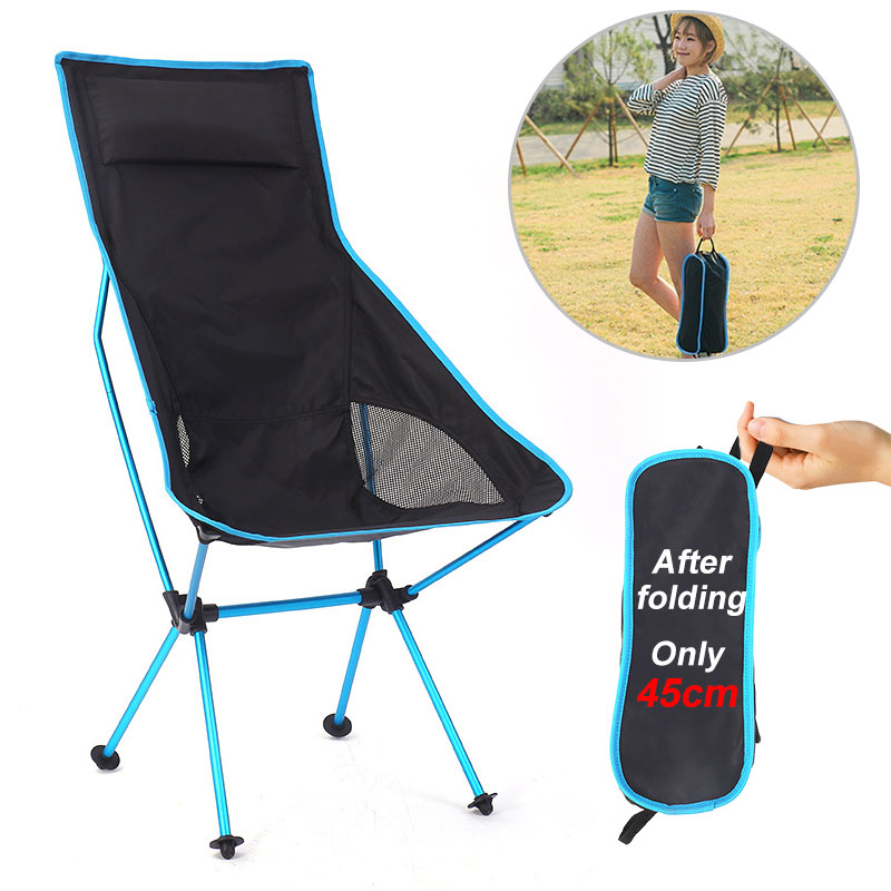 Outdoor Camping Chair Oxford Cloth Portable Folding Lengthen Camping Ultralight Chair Seat for Fishi