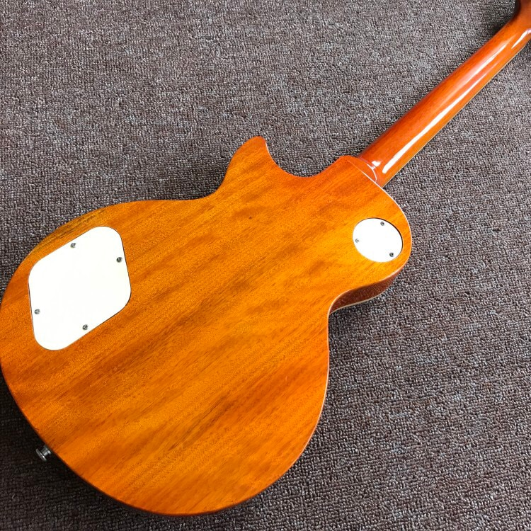 .Tiger Flame.one piece neck and one piece body Standard Electric guitar.Tune-o-Matic bridge.frets binding.mahogany body enlarge