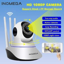 INQMEGA-1080P 720P 2M caméra IP sécurité domestique   Mini caméra de Surveillance sans fil PTZ, Camara Wifi CCTV IR, moniteur audio cordon