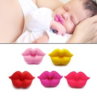 Food Grade Silicone Baby Pacifier Lip Mouth Shape Infant Toddler Baby Soother Teether Funny Nipple Feeding Orthodontic Teat