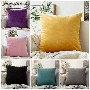 Декоративная плюшевая подушка в скандинавском стиле, 45 х45 см