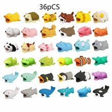 1pcs Cute Cable Bite Animals Protector For Winder Iphone Charging Cord Cable Buddies Cartoon Cable B