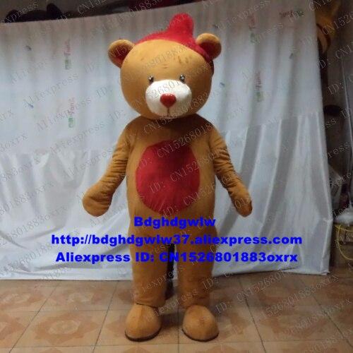 Oso marrón oso Grizzly mascota oso de peluche disfraz personaje de dibujos para adultos traje puede usar gracias zx2419