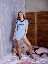 Atoff home female suit LCD 012 (blue/Peach)