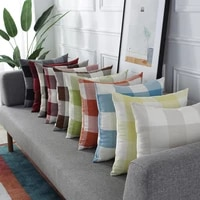 linen lattice pillowcover living room sofa cushion cover office bedside cushions cover decoration throw pillow case 40765