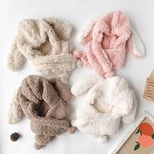 Bébé trucs accessoires hiver bébé filles garçons chaud oreilles de lapin chapeaux automne doux Beanie chapeau oreille en peluche casquette floue solide chapeaux accessoires