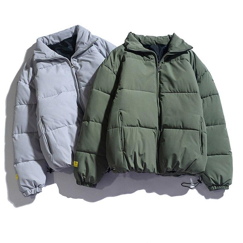 Зимняя мужская куртка 2020 однотонные Цветные парки качественные Брендовые мужские теплые толстые куртки с воротником-стойкой Мужская модна...