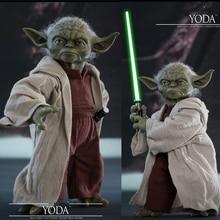 Jouets chauds 1/6 Yoda Figurine Star Épisode II Guerres Lattaque des Clones MMS495 Collection