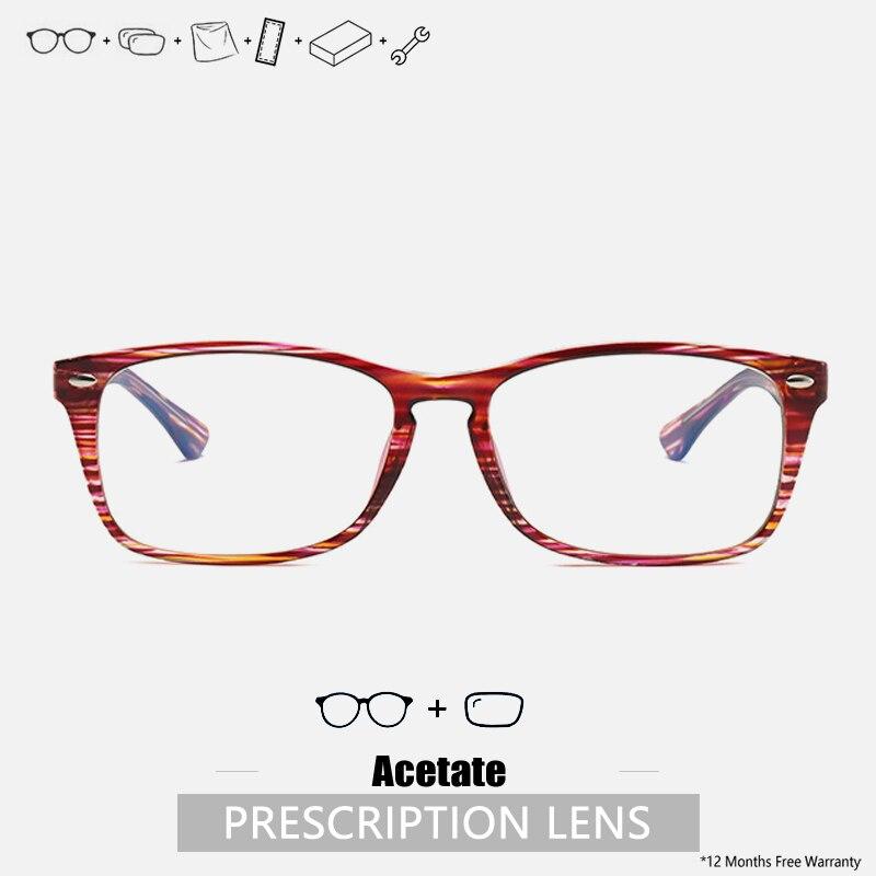 Prescription Glasses Women Progressive Acetate Rectangle Frame Prescription Glasses Designer Eyeglas