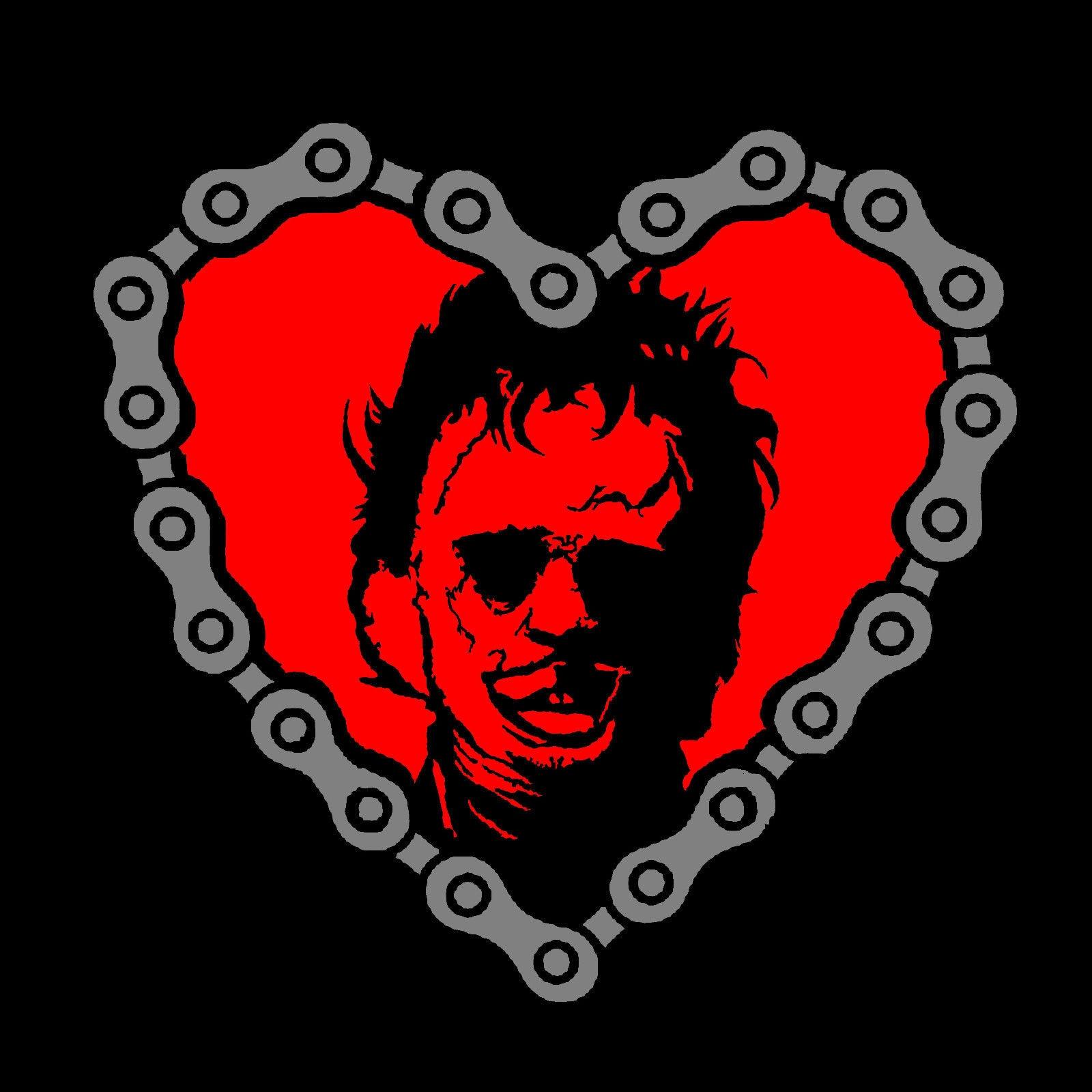 "Camiseta Leatherface ""Heart"" * alta calidad * Cool Casual pride camiseta hombres Unisex moda camiseta envío gratis divertida tops"