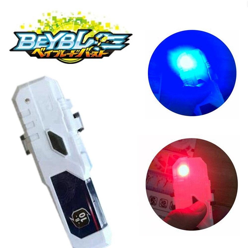 1 Uds. Lanzador giratorio superior LED tipo mango Beybld modelo accesorios de montaje Color rojo azul intermitente Gyro chico juguete de regalo
