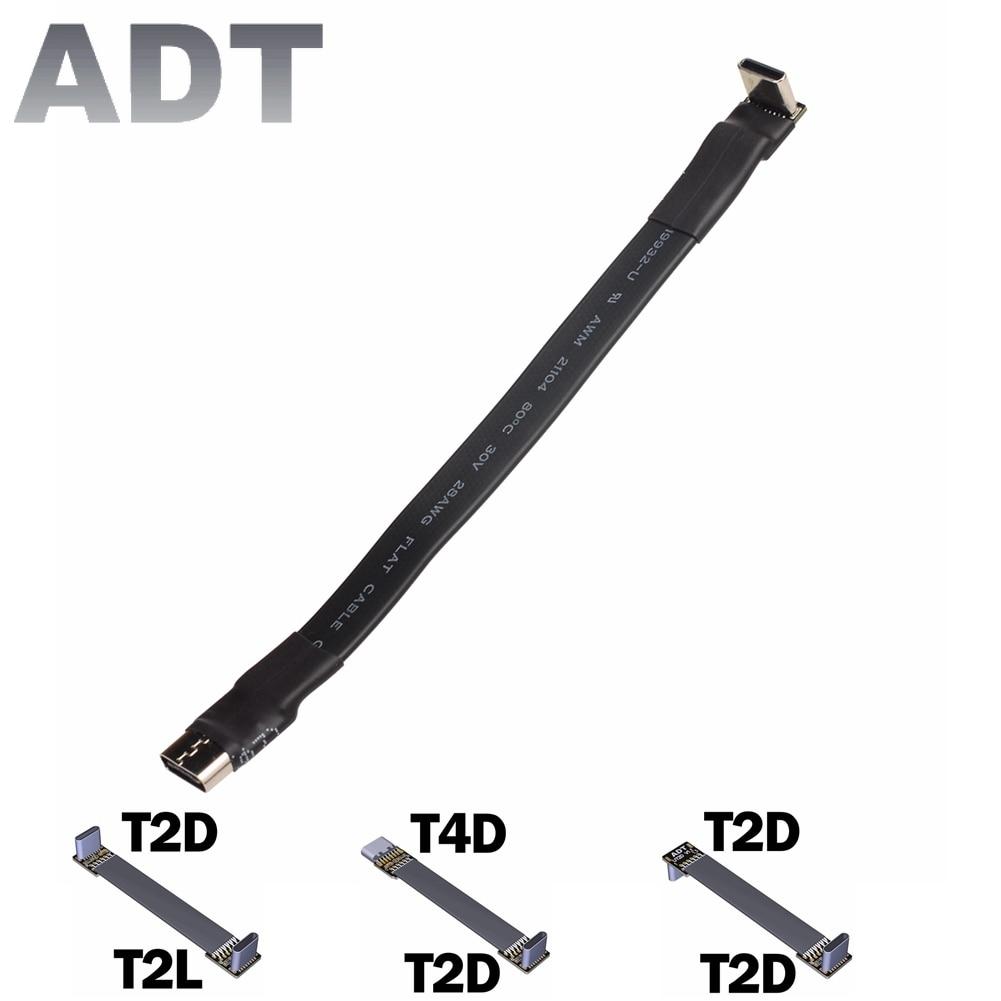 USB tipo-C Cable de cinta plana apantallamiento EMI extensión FPC Cable USB...