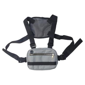Unisex Fashion Trend Multi-Function Waterproof Oxford Chest Bag Vest Bag