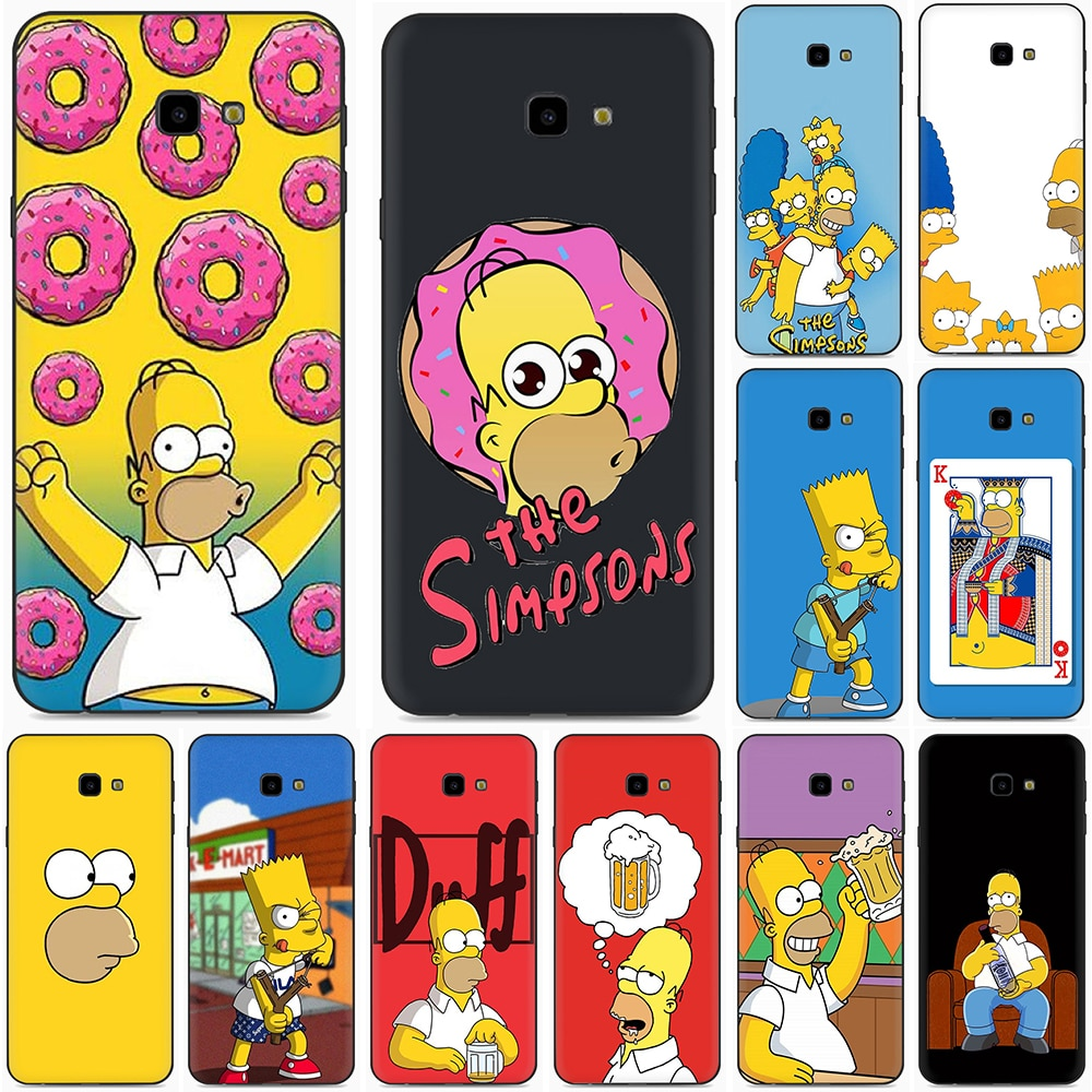 Divertida funda de silicona Simpson Eat para Samsung A2 Core A20E A70s J4 J6 Plus Prime J7 DUO J8