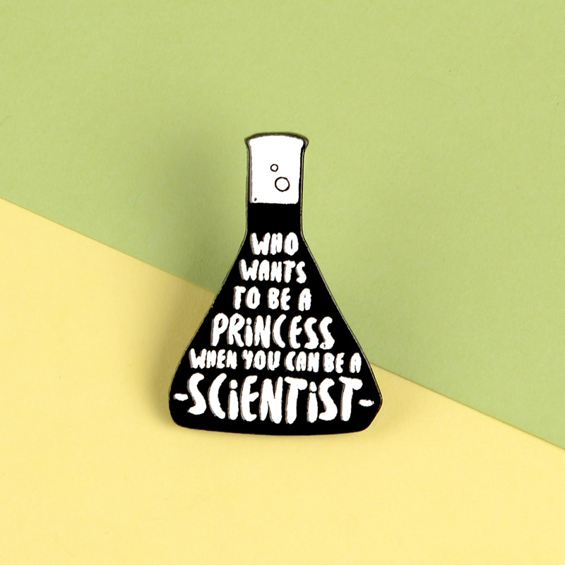 Broches de esmalte de reactivo mágico de científico, broches de Farmacia de princesas de cuento de hadas, broches de bolsa de insignias para ropa, alfileres de solapa, regalos de joyería para amigo